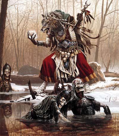 Barbarian Fantasy Volcano Art