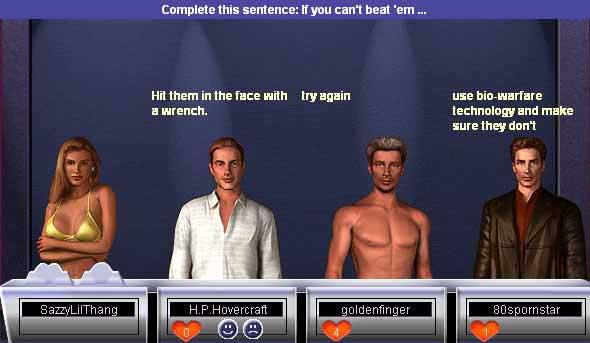 Something awful dating game