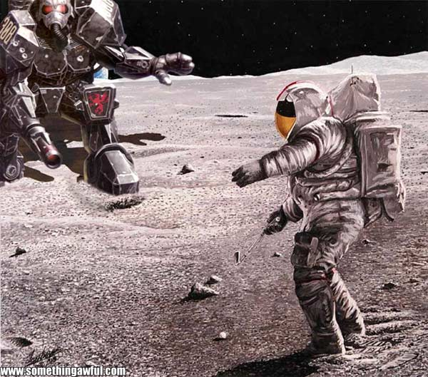 Astronaut Playing Golf On the Moon (page 2) - Pics about space