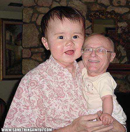 Swap Grandparents And Babies Heads