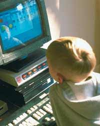 This young Internet user is chatting with interested males in his area.