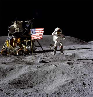 In more honest days honest men did an honest day's work on the moon.