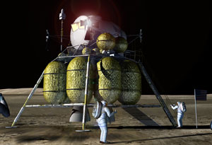 NASA has developed lens flare and bump mapping technology to aid them in getting to the moon sooner.