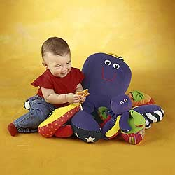 This child is drowning underwater while that octopus smiles like some kind of monster.