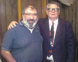 (Left to right) Journal Editor Whidbey Smotherson and Doctor Professor Mark D'abobo