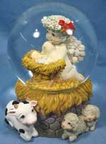 Naked children encased in glass spheres are a common Christmas Miracle and sign of good fortune.