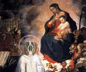 """The Vision of St Bernard"""