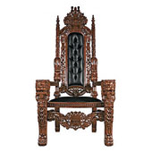 SkyMall Product Reviews: Raffles Faux Leather Throne