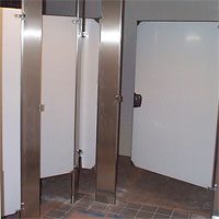 Select passages from the world 39 s most renowned public toilet stalls for Which bathroom stall is used most often
