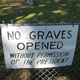 No Graves Opened Without Permission Of The President