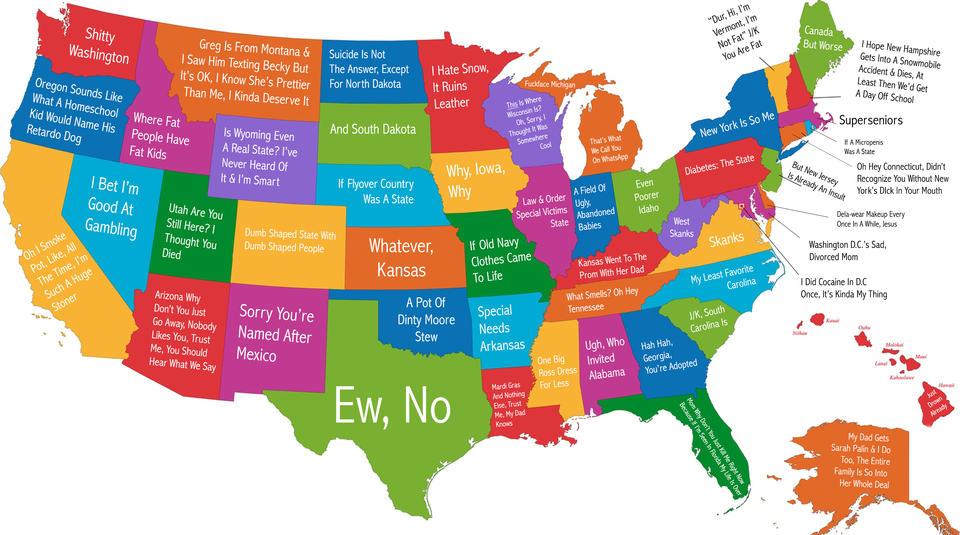 The States, As Named By A 14 Year Old Girl Who s You on