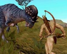 Caveman And Dinosaurs : Cavemen and dinosaurs