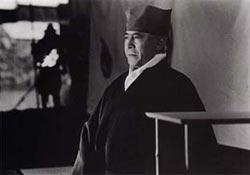 Toshiro Mifune and a sinister shadow