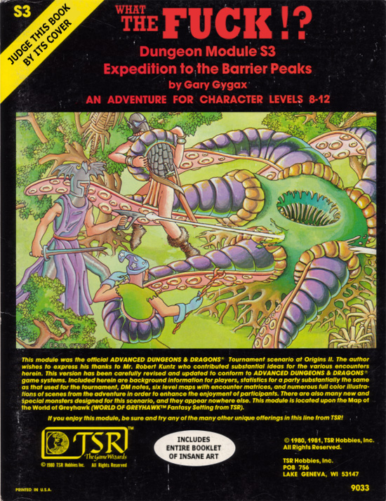 dungeons dragons dungeon module s3 expedition to the barrier peaks