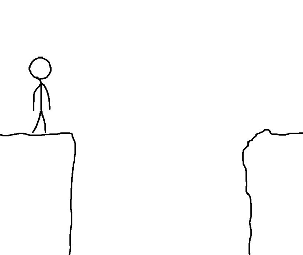 Draw Your Way Across A Cliff