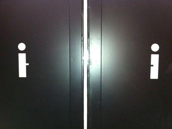 Minimalist Restroom Signs