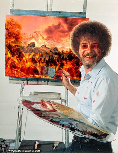 The joy of painting bob ross part 1 of 2 haddas offers his unique interpretation of the bob ross catchphrase beat the devil out of it voltagebd Choice Image