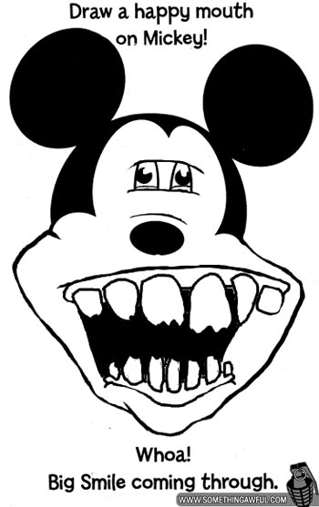 draw mickey s mouth