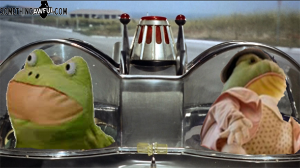 or a mr toads wild ride joke, whatever