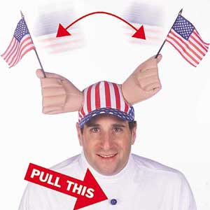 The American Dream, yours now in novelty hat form for $24.98!