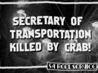 Secretary of Transportation Killed by Crab!