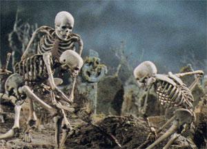 More skeleton mischief.