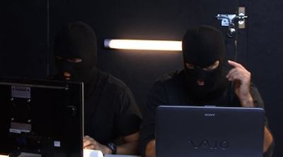 You guys know the masks aren't really necessary for a cybercrime spree, right?